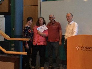 The Bright Stream team winning the Cambridge Accelerator Weekend