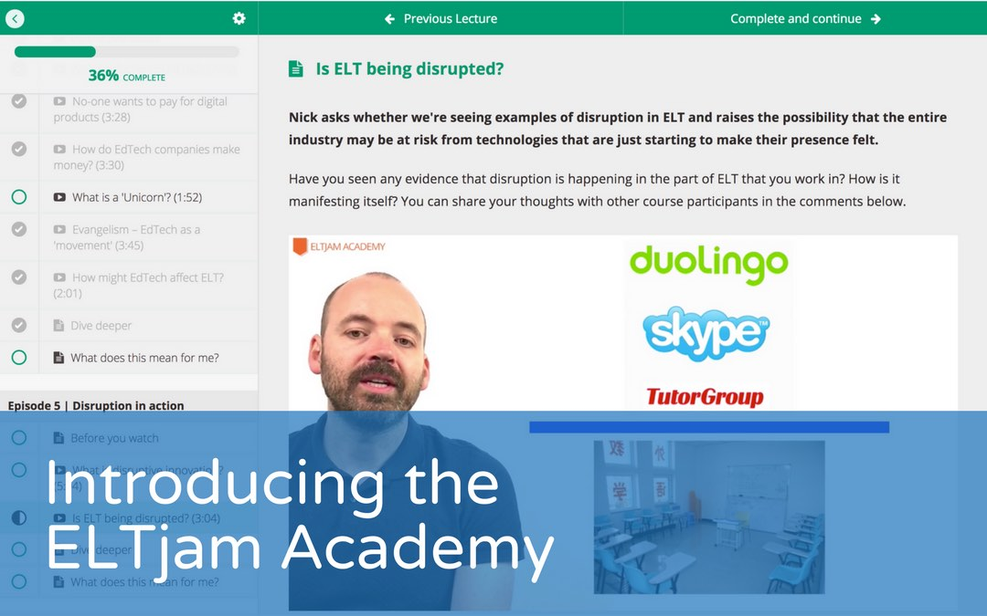 Introducing the ELTjam Academy