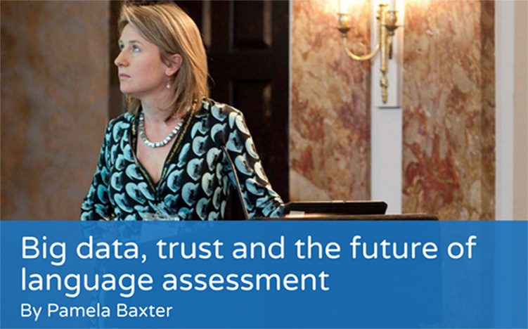 Big data, trust and the future of language assessment