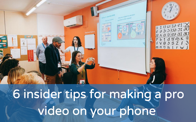 6 insider tips for making a pro video on your phone