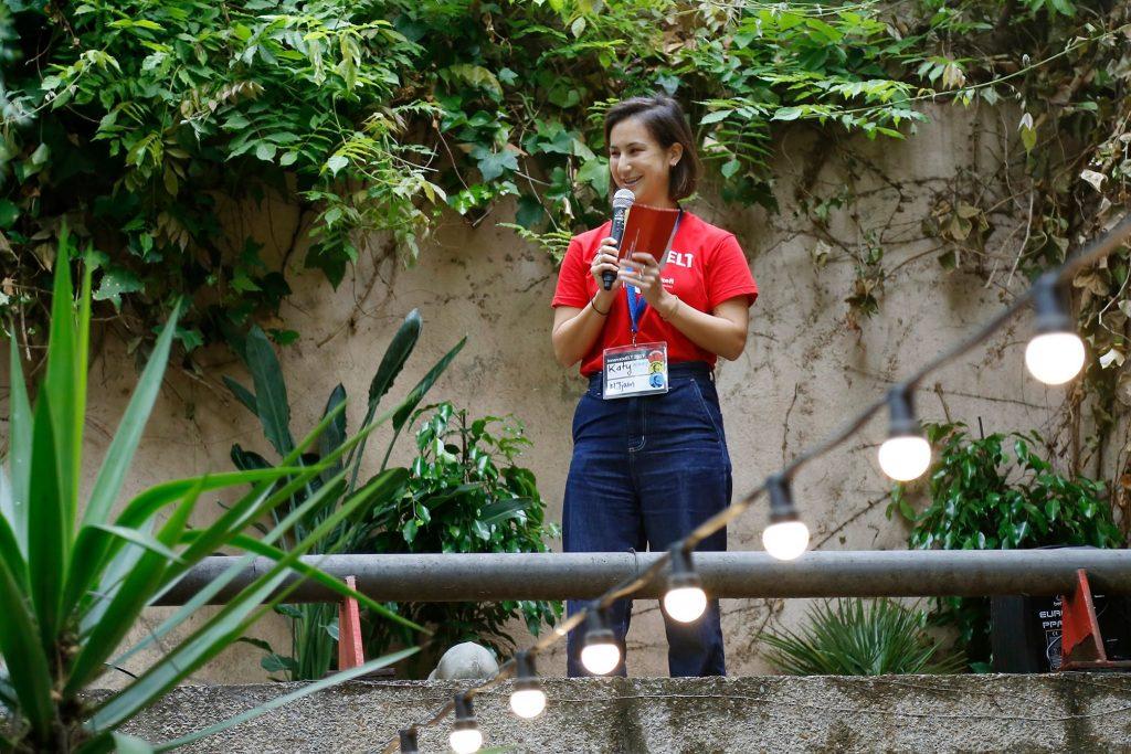 Katy at InnovateELT 2019 talking about LXD
