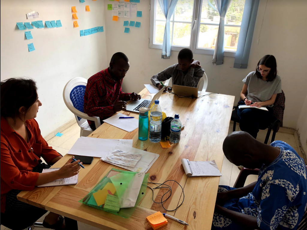 Katy working on LXD with learners in Senegal